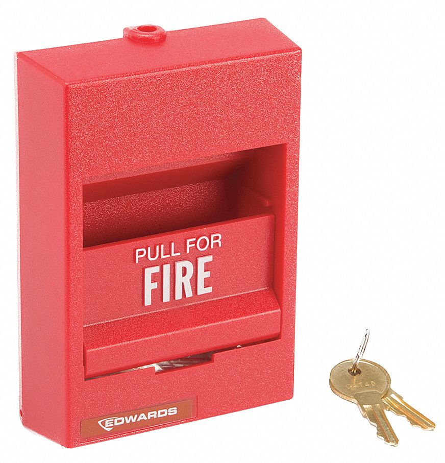 EDWARDS SIGNALING Fire Alarm Pull Station, Single Action