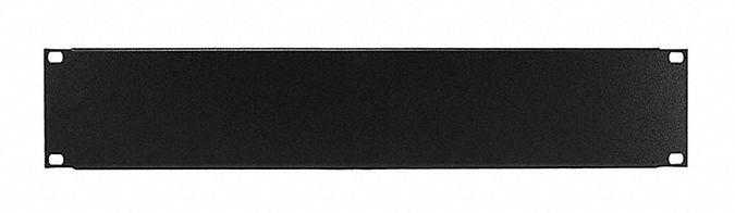 blank 2u panel rack mount black for use with network racks