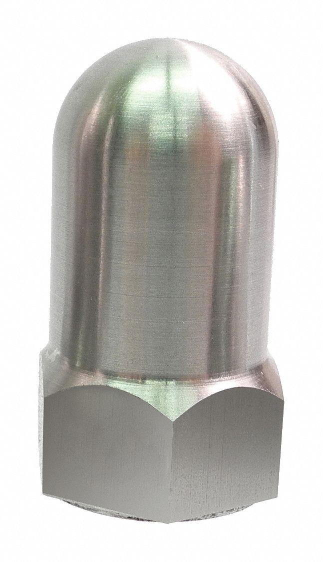 GRAINGER APPROVED 38 16 High Crown Cap Nut Plain Finish