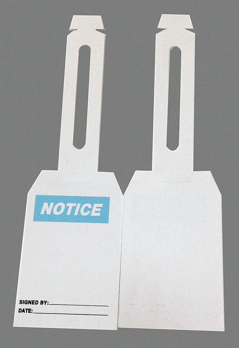 """GRAINGER APPROVED Notice Tag, Height: 5-1/4"""", Width: 3-1/4 ..."""