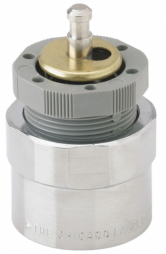 metering cartridge fits brand chicago faucets brass nickel plated finish