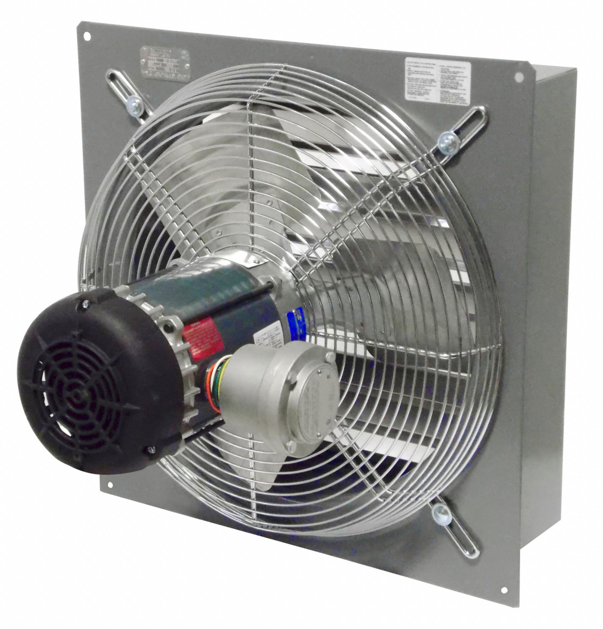 1 3 hphp 115 208 230v acv shutter mounted explosion proof exhaust fan