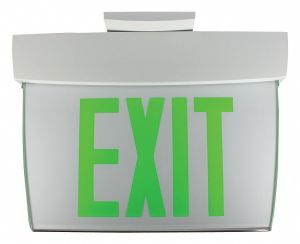 PHILIPS CHLORIDE Exit Sign,40W,Green,White,10332 in H  34TE87 CA6GWW1IC  Grainger