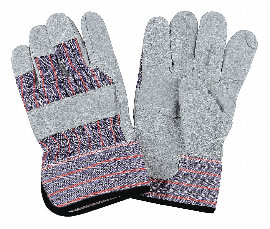 CONDOR Cowhide Leather Work Gloves Safety Cuff Gray