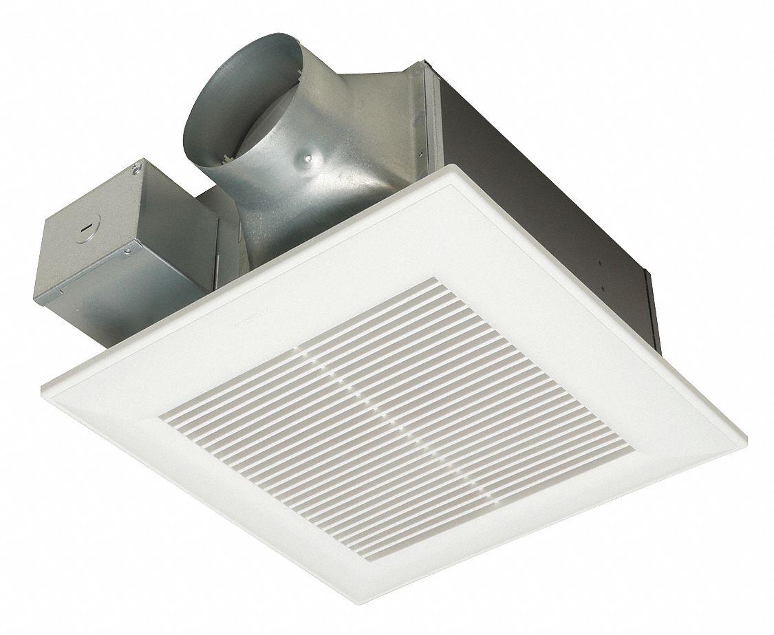 10 1 4 in x 10 1 4 in x 5 5 8 in low profile bathroom ventilation fan 80 110 cfm cfm 0 18 0 23 amp