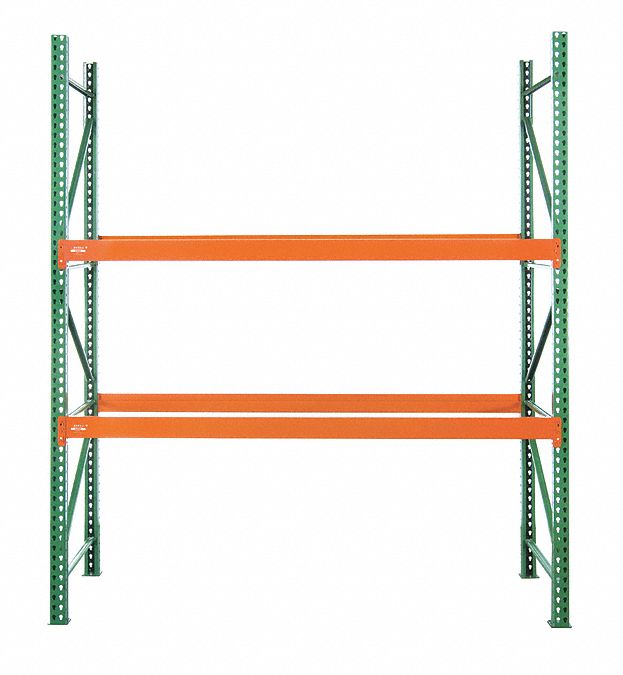 102 inw x 48 in d x 96 inh steel pallet rack starter unit 19 380 lb with beams evenly spaced at 36