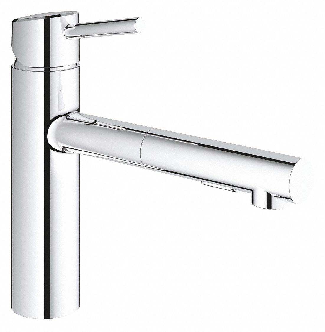 chrome straight kitchen sink faucet manual faucet activation 1 5 gpm