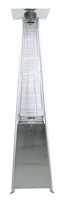 portable gas patio heater glass tube propane heating capacity input 42 000 btuh
