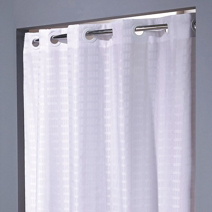 shower curtain 42 in width polyester white hookless