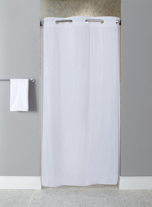 shower curtain 42 in width vinyl white hookless