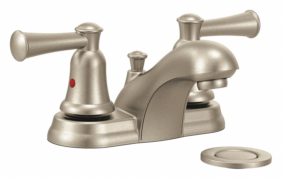 brushed nickel low arc bathroom sink faucet manual faucet activation 1 2 gpm