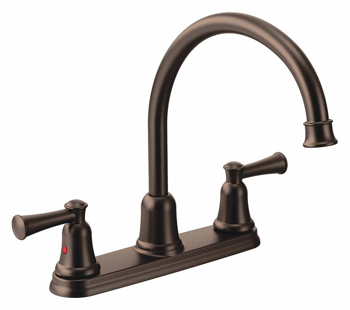 oil rubbed bronze gooseneck kitchen sink faucet manual faucet activation 1 5 gpm