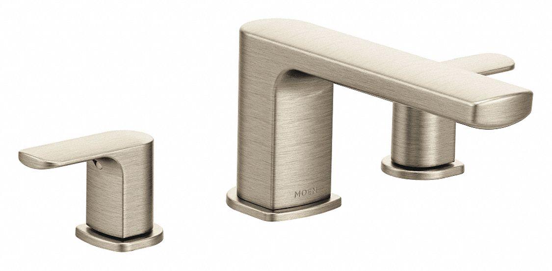 moen bathtub faucet and trim non diverter spout brushed nickel