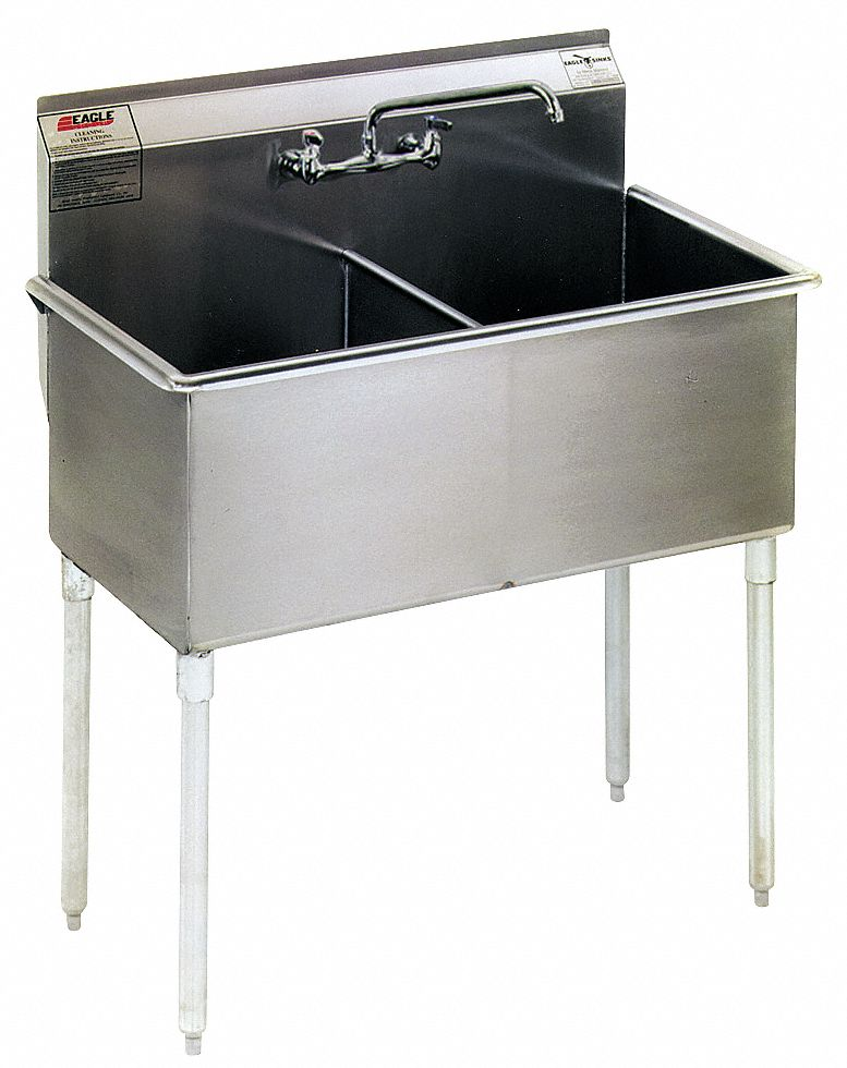 utility sink stainless steel 37 3 8 in overall length 22 in overall width