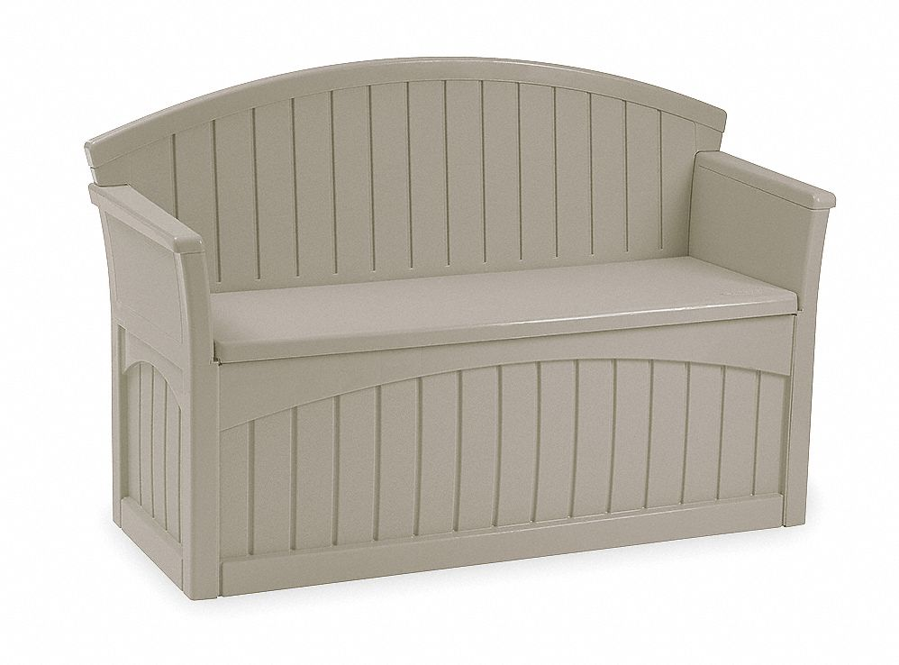 patio bench h 34 1 2 w 52 3 4 d 21 taupe