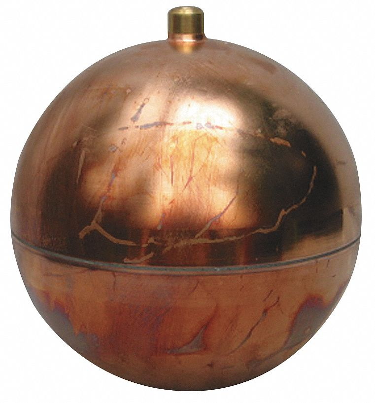 NAUGATUCK Round Float Ball 6800 Oz 12 Dia Copper 4LTP8GRC1220RE Grainger