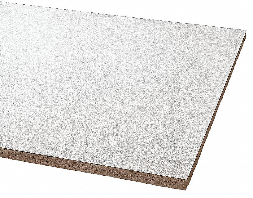 ceiling tile width 24 in length 24 in 5 8 in thickness mineral fiber pk 12