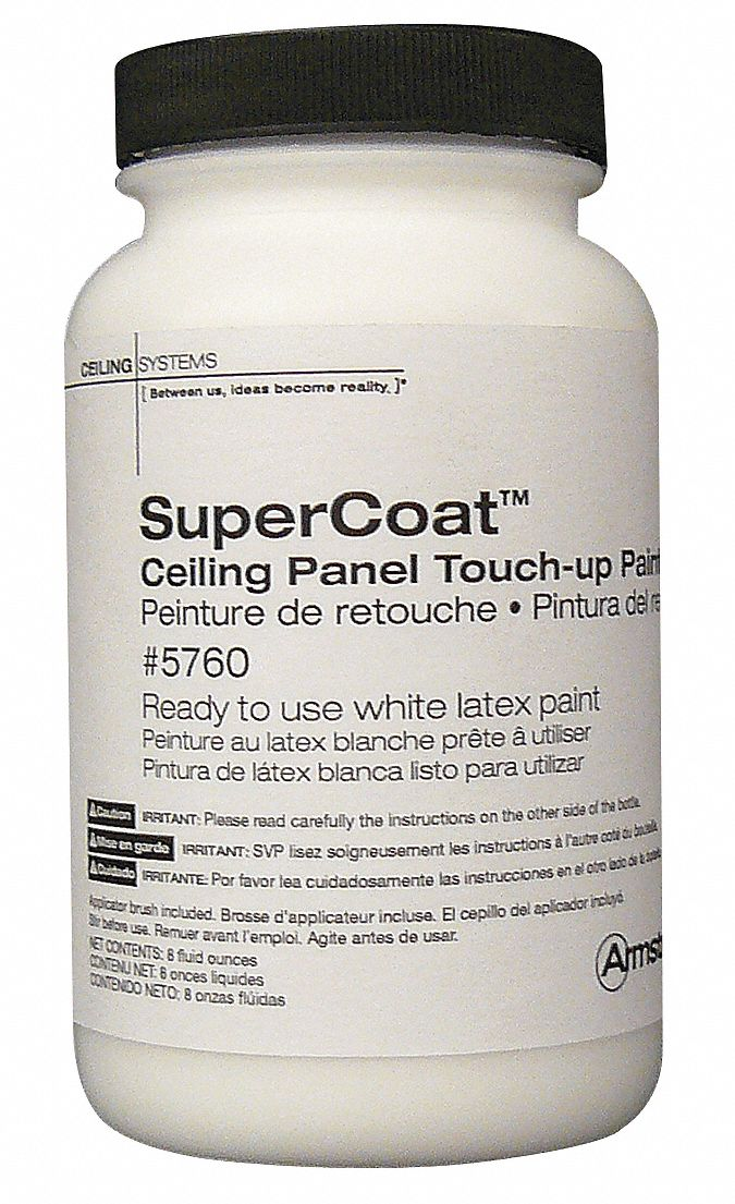 ceiling tile touch up paint latex white 8 oz