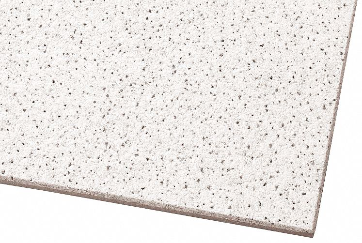acoustical ceiling tile width 12 in length 12 in 3 4 in thickness mineral fiber pk 40