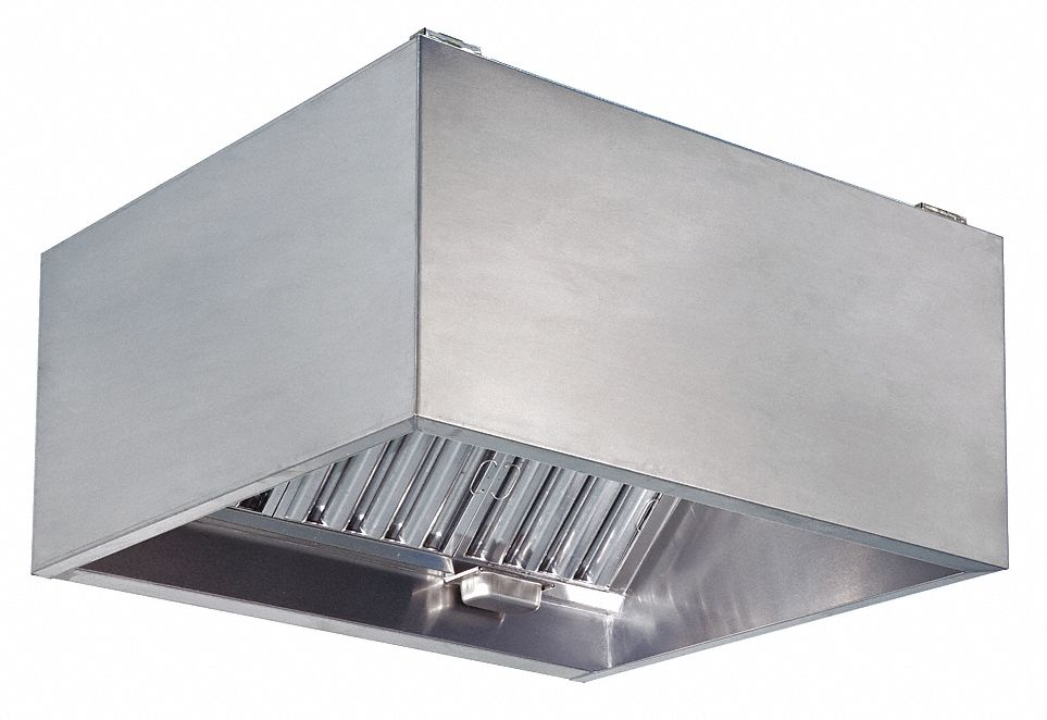 commercial kitchen exhaust hood 430 stainless steel number of light fixtures 4 length 144 in