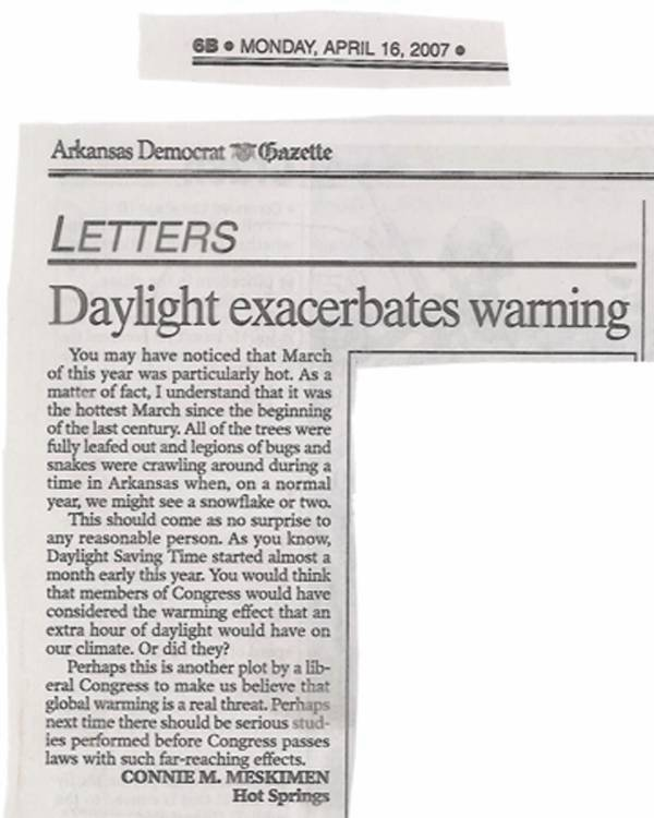 Daylight exacerbates warming