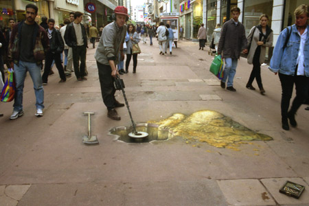 Julian Beever Gold Digging 3