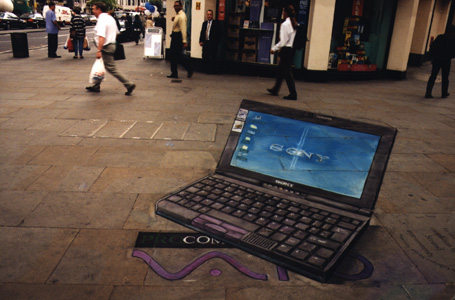 Julian Beever Sony Vaio Drawing