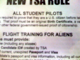 Flight Training for Aliens