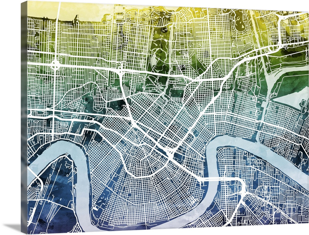 2324x1799 / 1,39 mb go to map. New Orleans Street Map Wall Art Canvas Prints Framed Prints Wall Peels Great Big Canvas