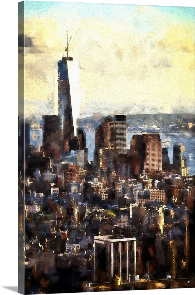 Gotham City II  NYC Painting Series Wall Art  Canvas Prints  Framed     Gotham City II  NYC Painting Series