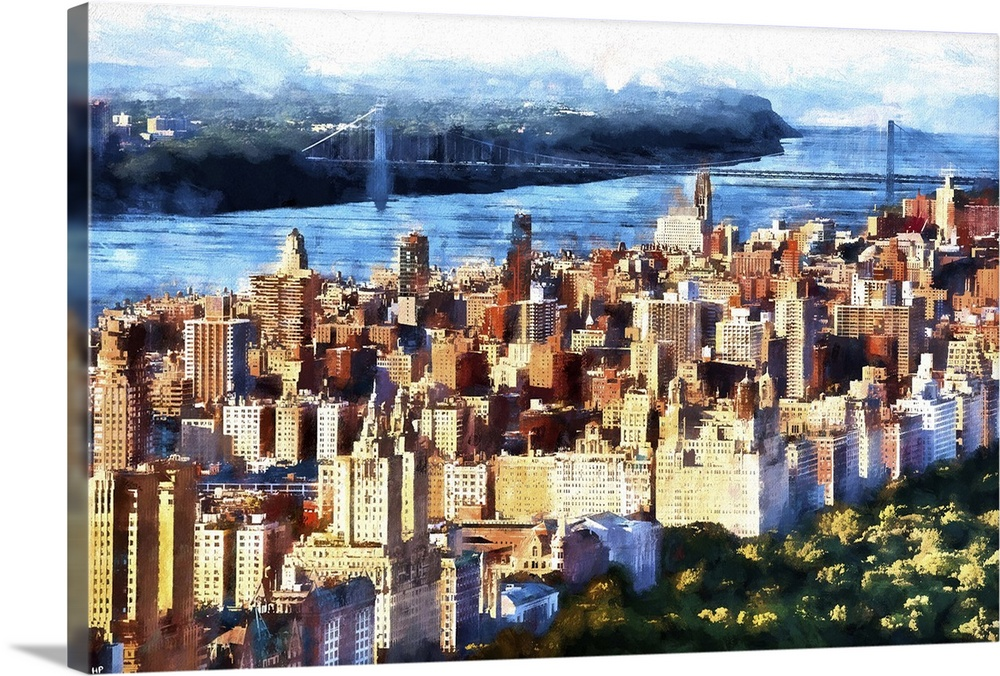 Manhattan Upper West Side  NYC Painting Series Wall Art  Canvas     Manhattan Upper West Side  NYC Painting Series