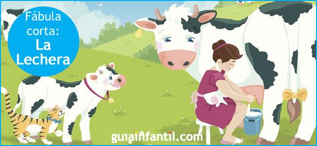 La lechera. Fábula corta para niños