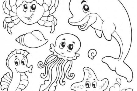 best Dibujos De Animales Marinos Para Colorear E Imprimir image ...