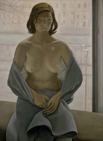 Girl in a Blanket, painted in 1952