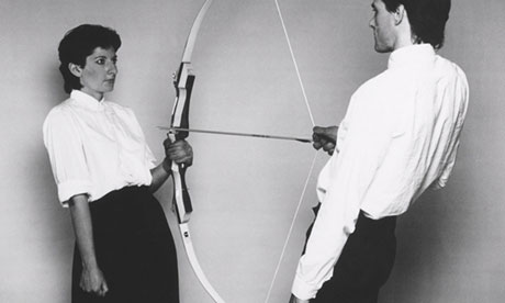 Marina Abramovic, Rest Energy with Ulay, 1980