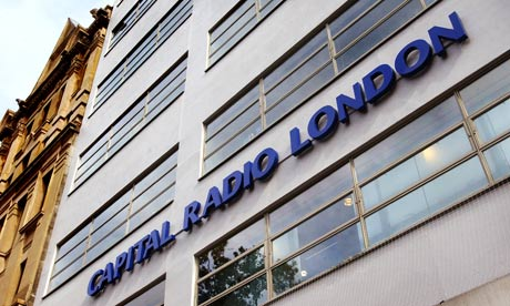 Capital Radio's headquarters. The parent company has rebranded stations it owns including Red Dragon and the Galaxy Network under the name Capital. Photograph: Linda Nylind for the Guardian