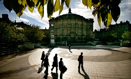 The McEwan Hall and Bristo Square, Edinburgh University