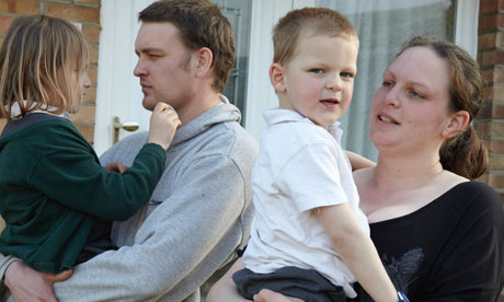 Richard and Crisy Rowley with their children Lucie, 5, and Rhys, 4