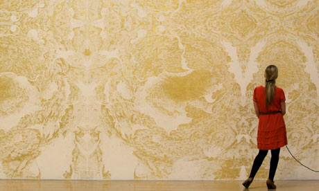 Richard Wright's intricate Gold Leaf painting at this year's Turner prize