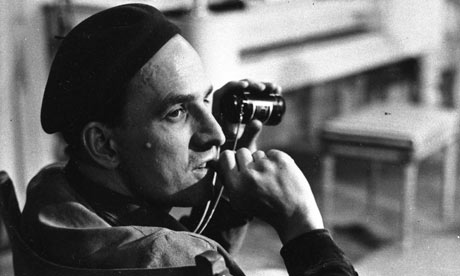 Ingmar Bergman with camera. He will be studied on the course, of course.