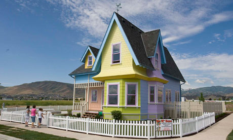 House from Pixar film Up, located in Herriman, Utah