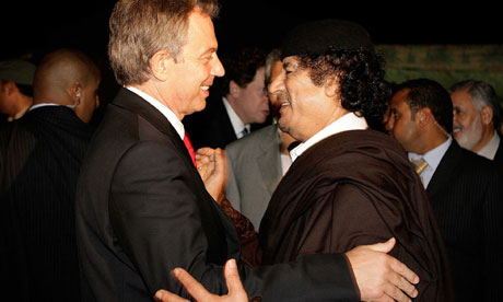 Tony Blair meeting Col Gaddadi