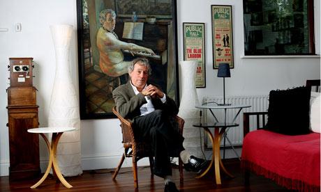 Terry Jones in his sitting room