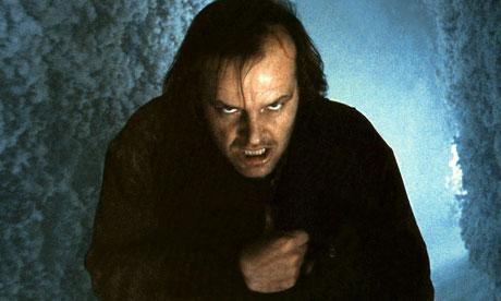 Jack Nicholson in Kubrick's film, The Shining
