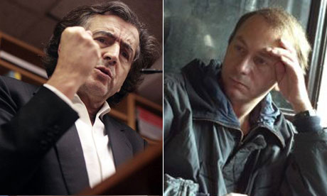 Bernard Henri Levy and Michel Houellebecq