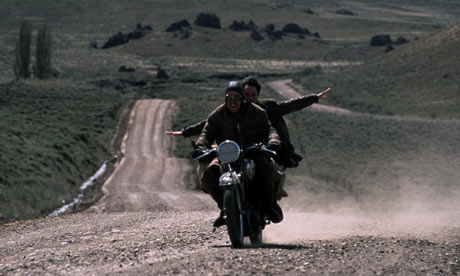 Rodrigo De la Serna and Gael García Bernal in the film version of The Motorcycle Diaries