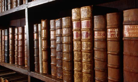 Words will never hurt me … a shelf of books at the Bodleian Library, Oxford