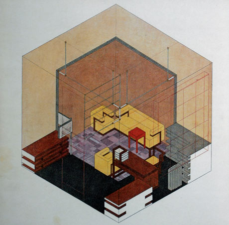 An architectural design by Herbert Bayer.