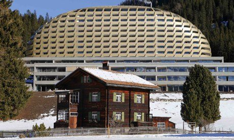 The InterContinental Davos luxury hotel in the Swiss mountain resort of Davos