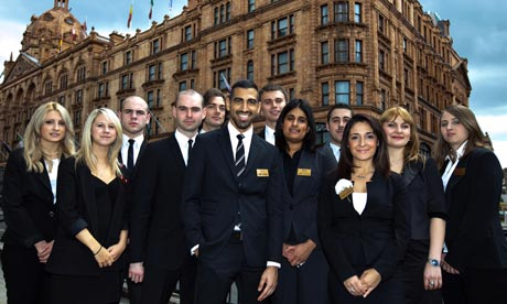 Harrods sales staff have the chance to gain a degree in sales while they are at work
